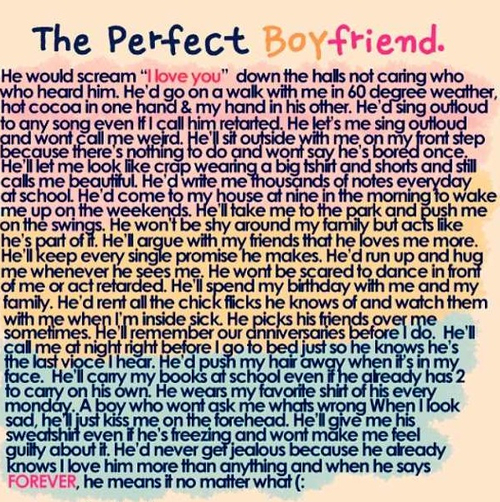 Teenage Love Quotes For My Boyfriend : My Perfect Boyfriend Quotes. QuotesGram