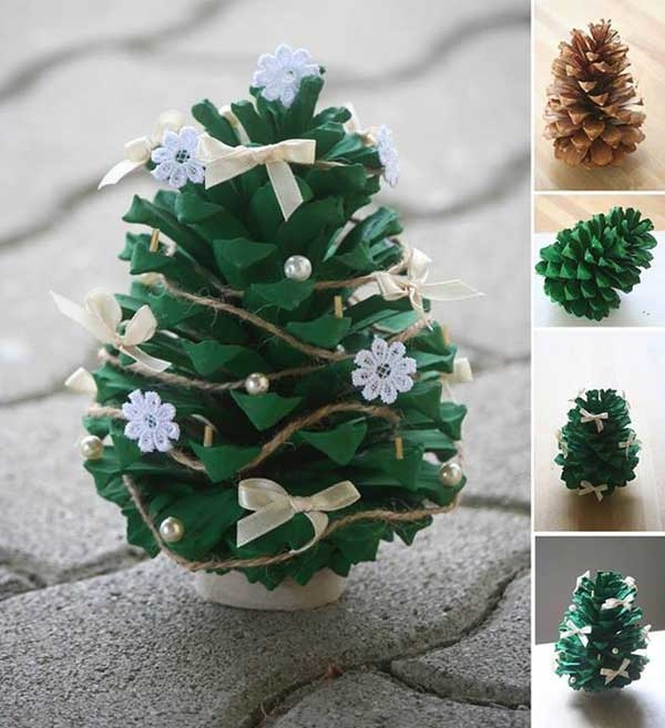 Pine Cone Christmas Tree Ornament Craft