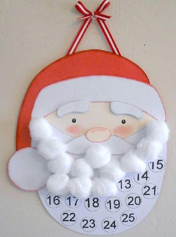 cotton ball santa craft - Santa Crafts