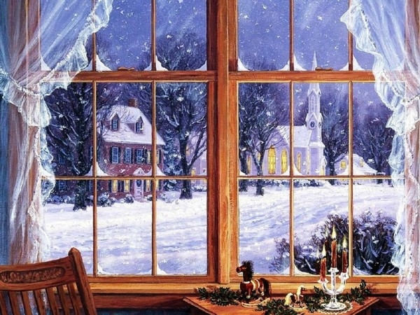 Image result for winter from a window