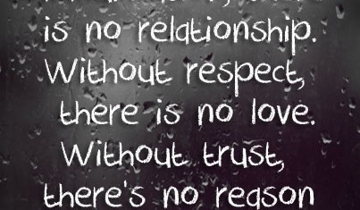 Without trust, there is no reason