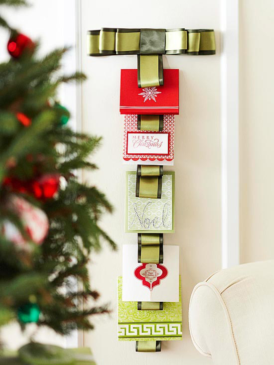 Ribbon Christmas Card Hanger Pictures Photos And Images For