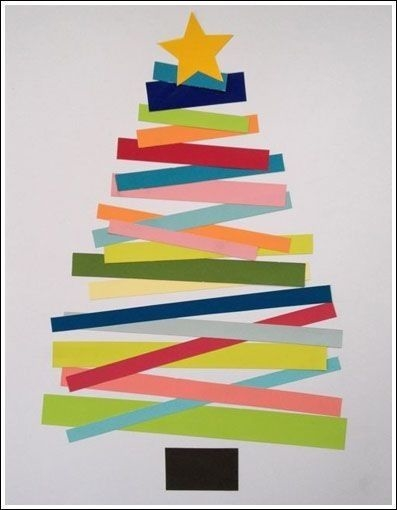 Diy construction paper christmas tree pictures photos for Holiday crafts with construction paper