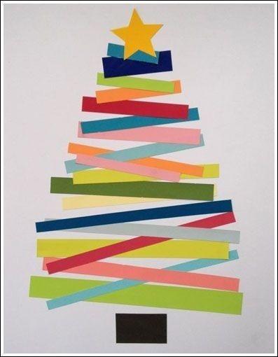 DIY Construction Paper Christmas Tree
