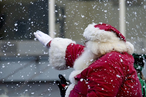 Santa claus waving pictures photos and images for