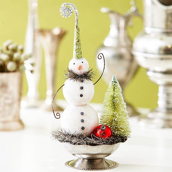 Tiny Clay Snowman Display Pictures Photos And Images For