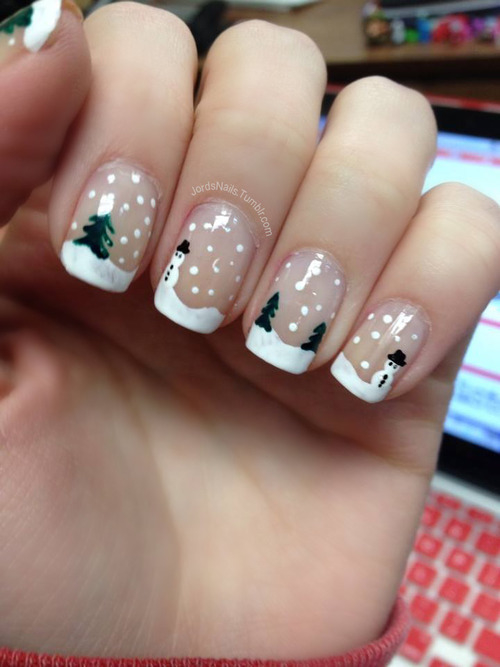 winter and christmas nails - Pinterest Christmas Nails