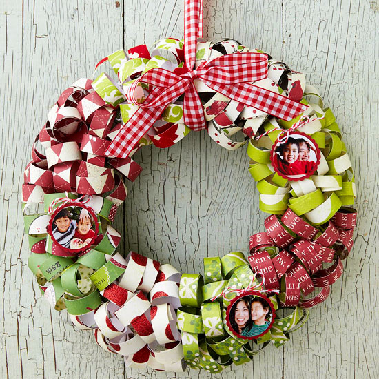 Paper christmas wreath pictures photos and images for facebook tumblr pinterest and twitter - Pinterest weihnachtsbasteln ...