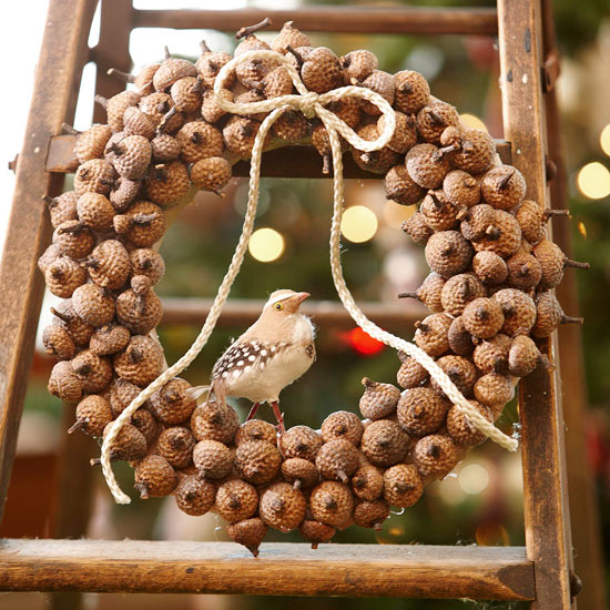 Natural Acorn Christmas Wreath Pictures, Photos, And