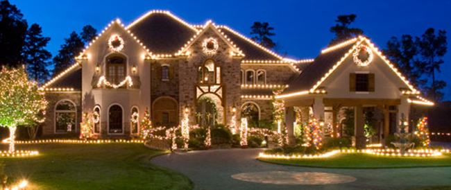 Christmas lights on house pictures photos and images for - Pictures of homes decorated for christmas on the inside ...