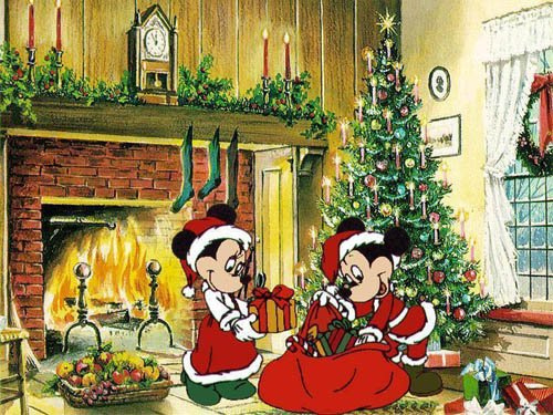 A Mickey And Minnie Mouse Christmas Pictures Photos And