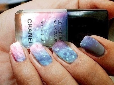 Chanel galaxy nails
