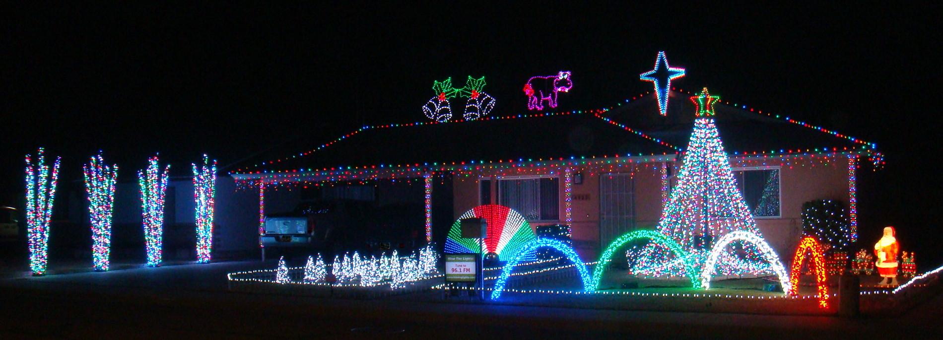 Christmas House Light Display