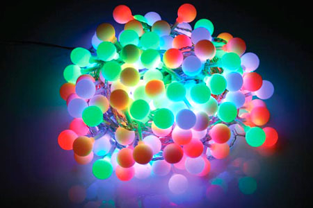 Round ball neon lights pictures photos and images for for Guirlande noel exterieur