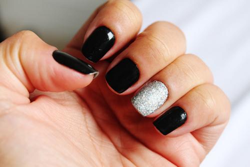 black and silver nails tumblr wwwpixsharkcom images