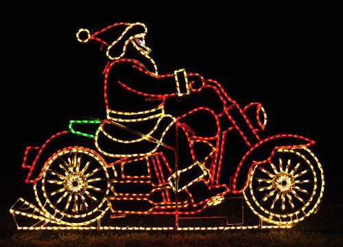Santa On Motorcycle Lights Pictures, Photos, and Images ...
