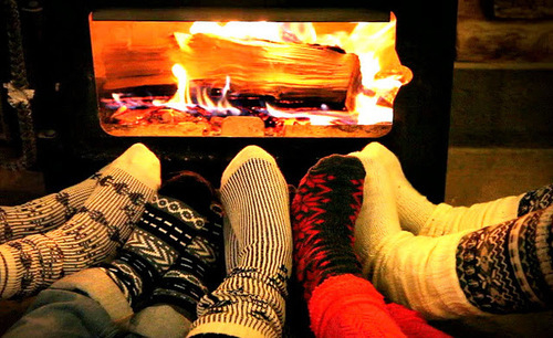 Warm by the fire pictures photos and images for facebook for Warm cabin socks