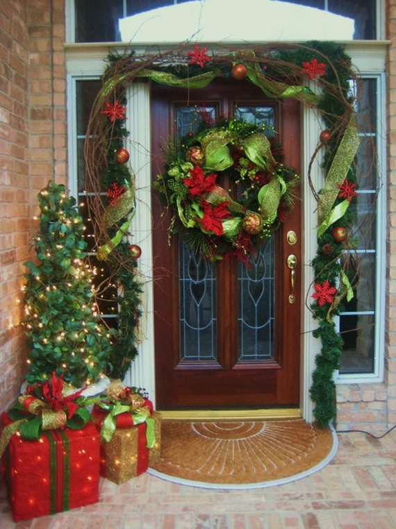 Christmas Decorations Sliding Glass Doors : Bauble front door decor pictures photos and images for