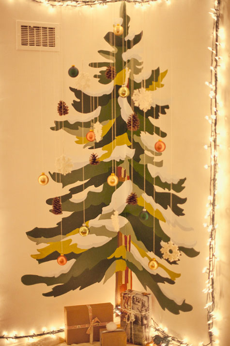 Wall painted christmas tree pictures photos and images - Alternatives to painting walls ...