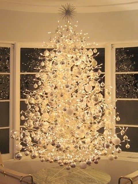 white elegant xmas tree - Elegant Christmas Trees