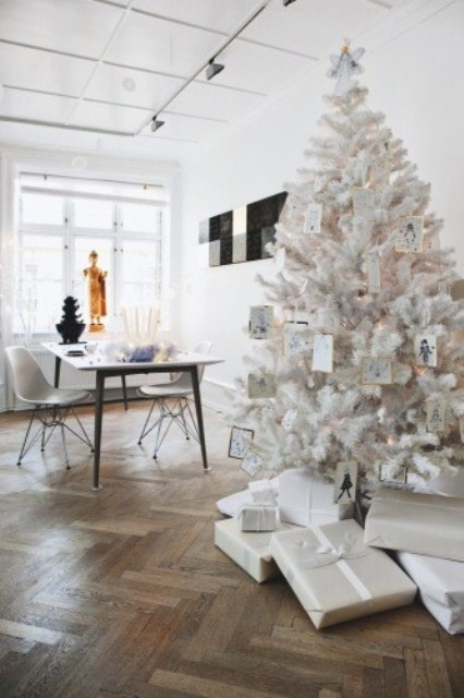 White Christmas Tree With Ornament Tags Pictures Photos And Images For Facebook Tumblr