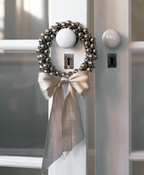 Jingle Bell Wreath Door Knob Pictures, Photos, And Images