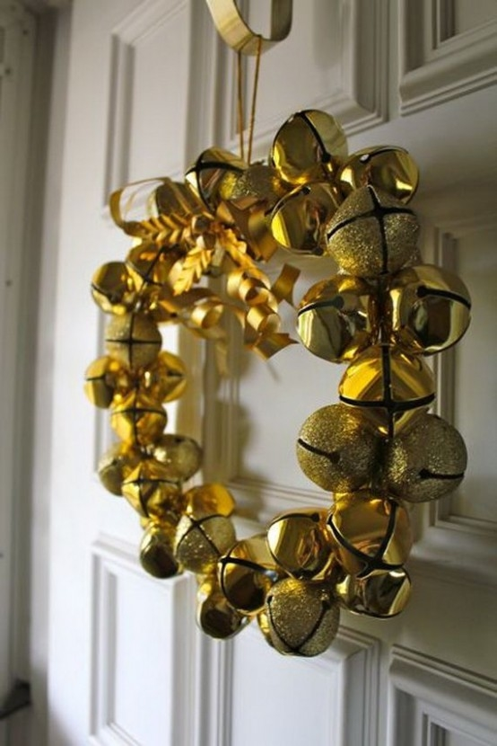Golden Jingle Bell Wreath Pictures Photos And Images For Facebook Tumblr Pinterest And Twitter