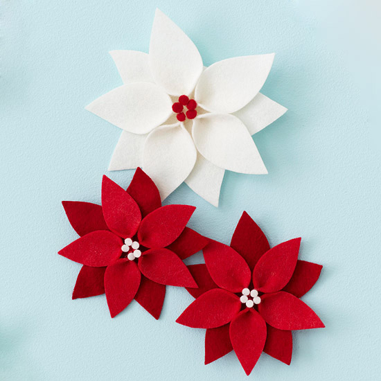Felt Poinsettia Christmas Ornament Pictures, Photos, and Images ...