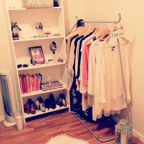 Wardrobe rack and jewelry shelf space pictures photos for Bedroom shelves inspiration