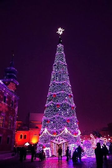 purple city christmas tree - Purple Christmas Tree