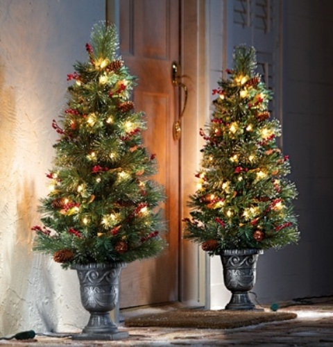 Christmas Tree Doorstep Decor Pictures, Photos, And Images