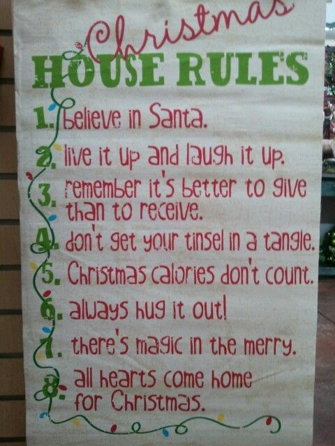 Christmas House Rules Pictures, Photos, and Images for Facebook