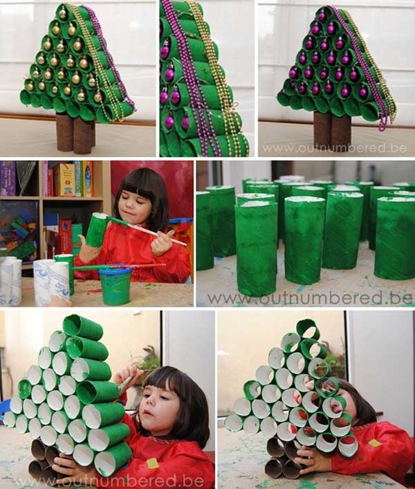 Christmas tree out of toilet paper rolls pictures photos for How to make a tree out of toilet paper rolls