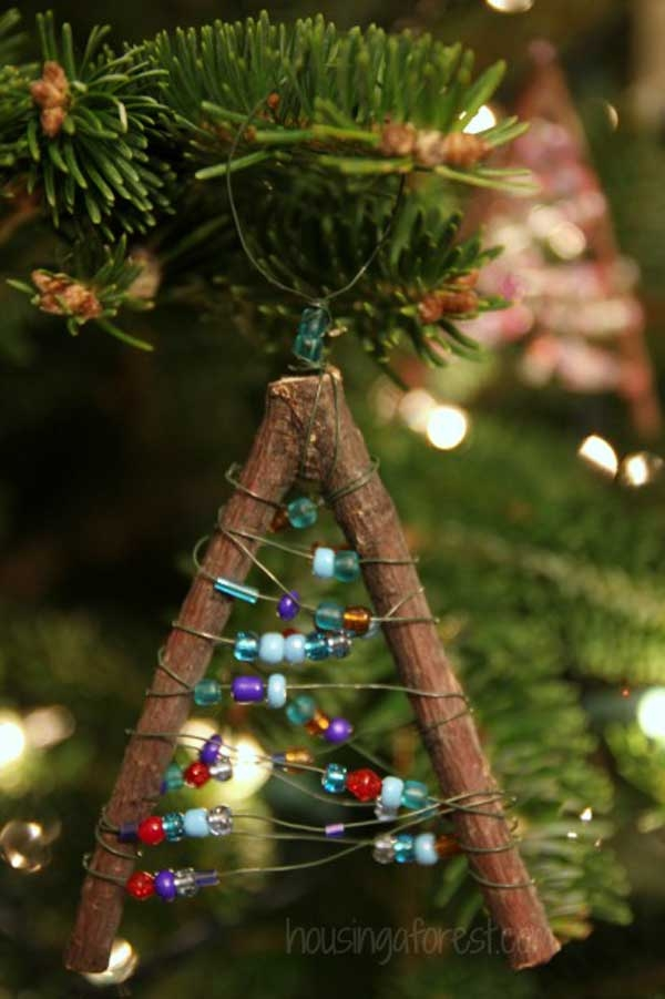 Beaded Twig Christmas Ornaments Pictures, Photos, and Images for Facebook, Tu...
