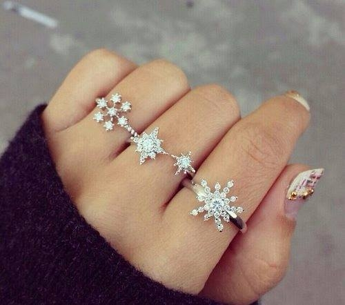 Diamond Snowflake Rings Pictures Photos And Images For