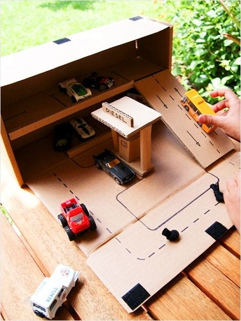 10 Ideas About Cardboard Box Cars On Pinterest: Toy Car Parking Garage Pictures, Photos, And Images For