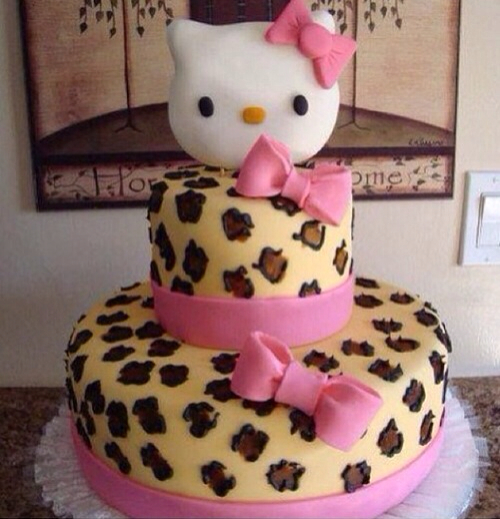 Leopard Print Hello Kitty Cake Pictures Photos And