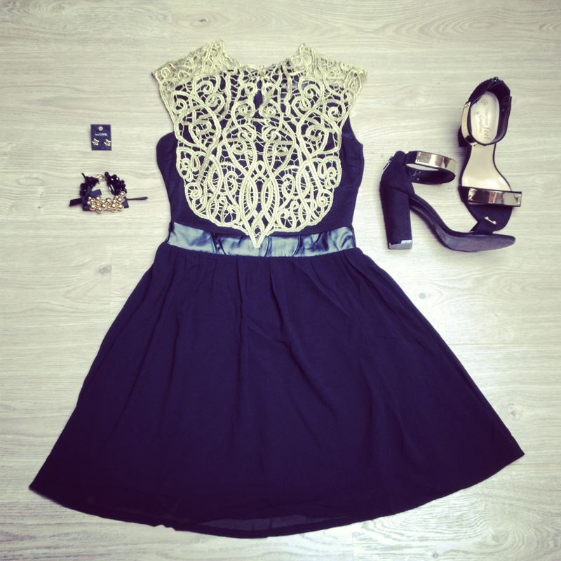 Black dress with gold lace pictures photos and images for facebook