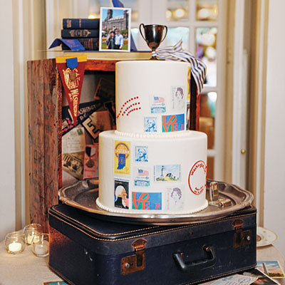 vintage stamp wedding cake pictures photos and images for facebook tumblr pinterest and twitter. Black Bedroom Furniture Sets. Home Design Ideas