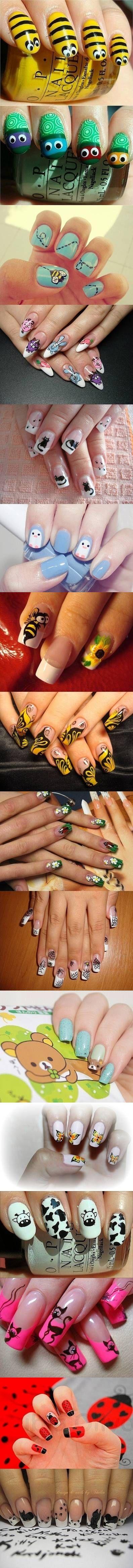 Cute animal nail themes