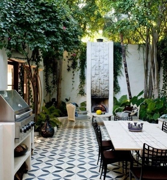 Stylish outdoor entertaining area pictures photos and for Tuinontwerp 50m2