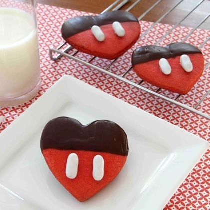 Mickeys Chocolate Dipped Valentine Cookies Pictures, Photos, and ...
