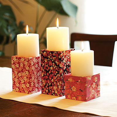 Craft paper candle holder pictures photos and images for for Candle craft ideas