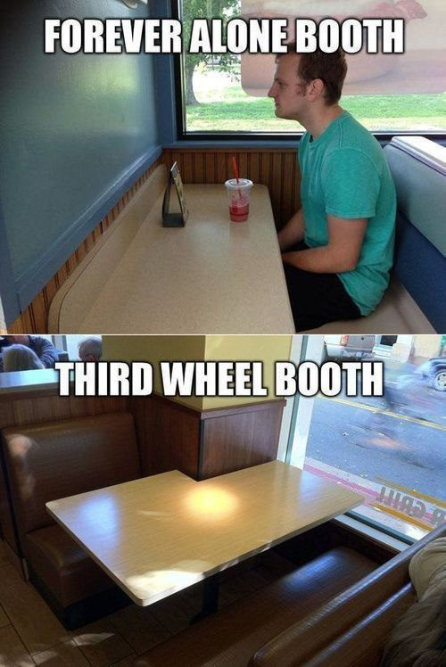 Forever Alone Booth Third Wheel Booth Pictures Photos