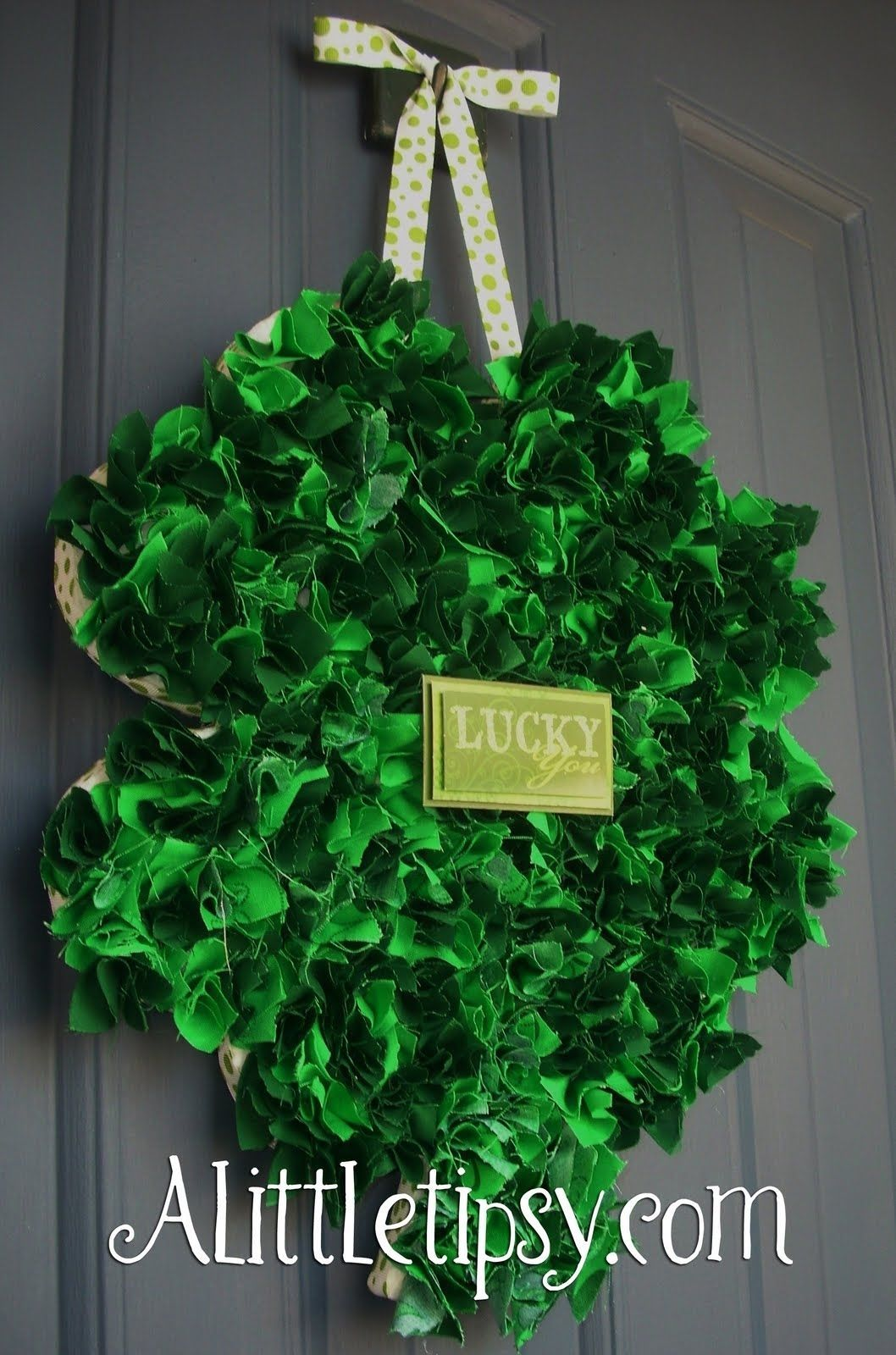 Fabric Shamrock Wreath Pictures, Photos, and Images for