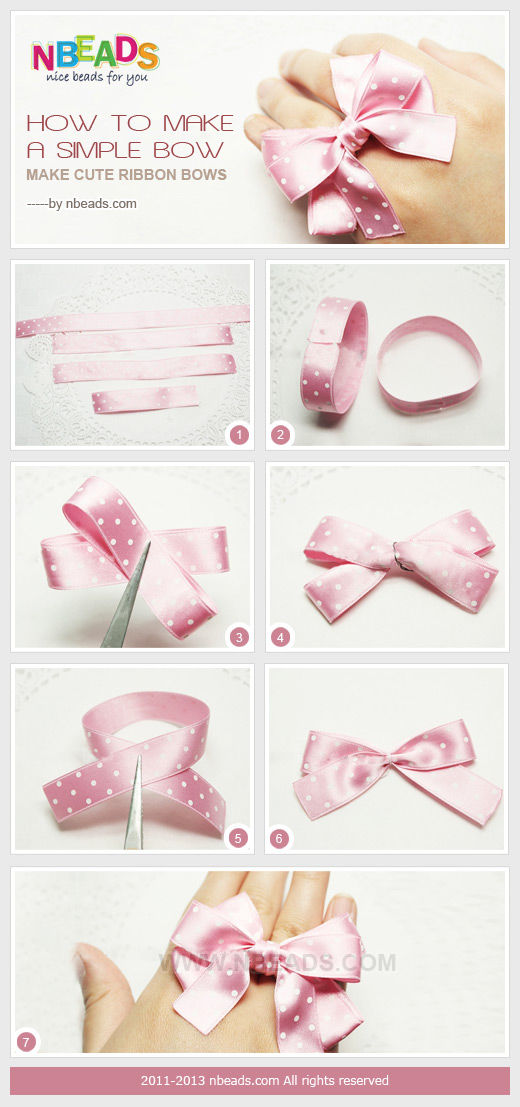 How To Make A Simple Bow - Make Cute Ribbon Bows Pictures ...