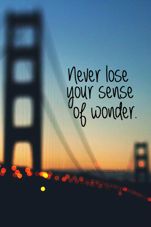 Never Lose Your Sense Of Wonder Pictures Photos And Images For Facebook Tumblr Pinterest