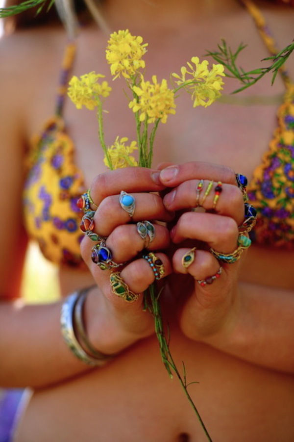 superb Tumblr Hippie Part - 3: Hippie rings