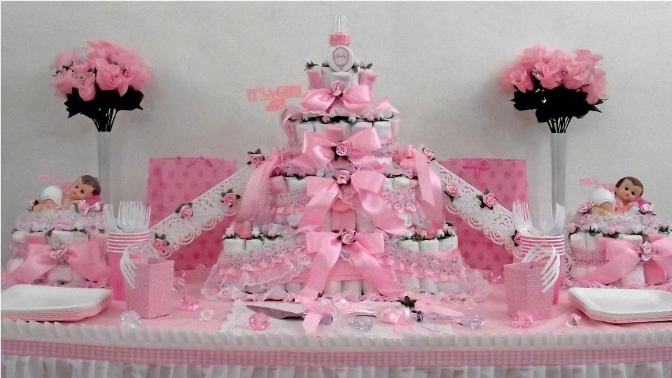 Girl Baby Shower Diaper Cake Ideas 960 x 540