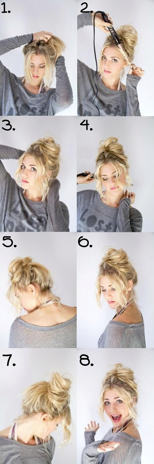 Messy Bun Step By Step Pictures, Photos, and Images for ...